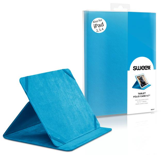 "SWEEX Tablet Folio Case 9.7"" Blue"