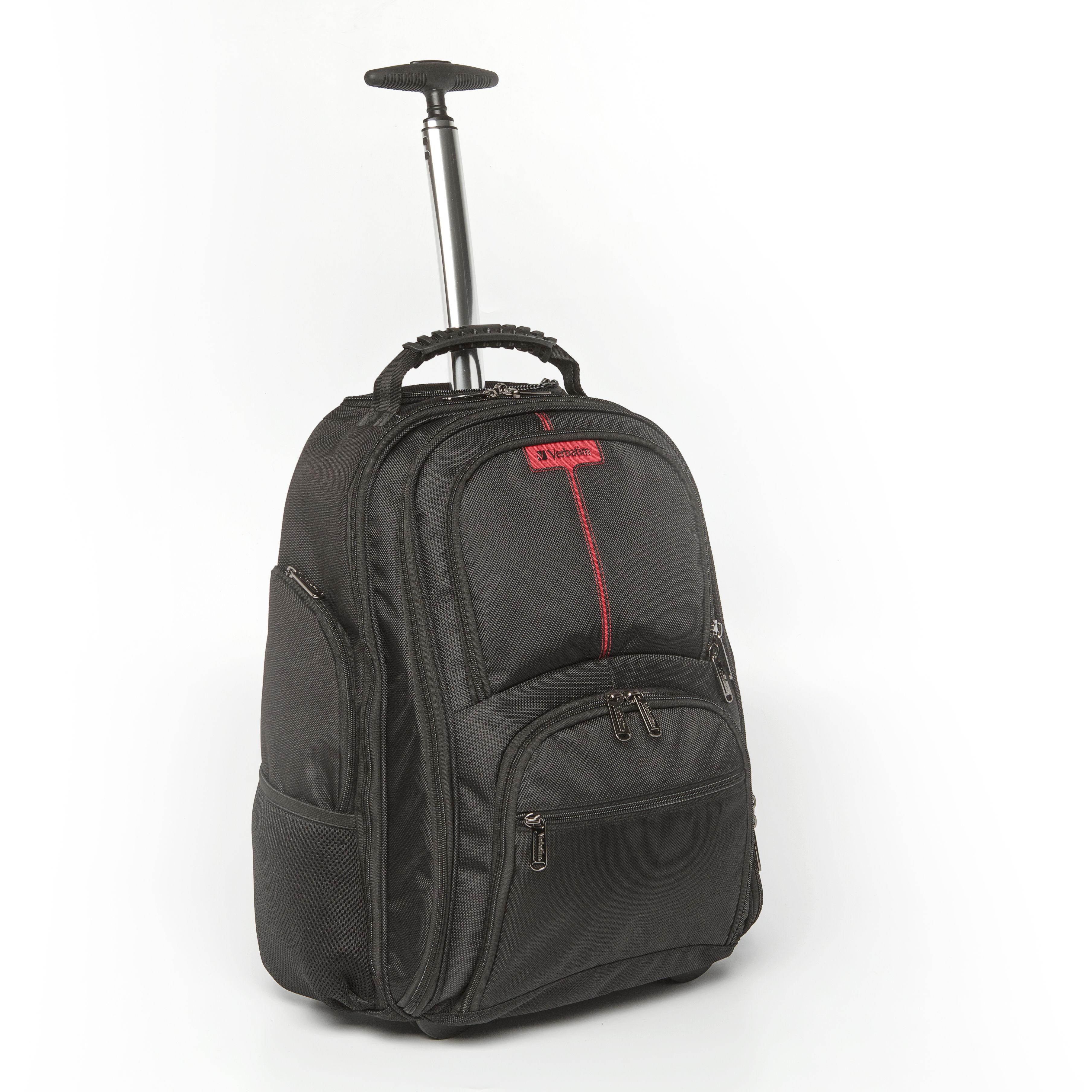"""VERBATIM Batoh Notebook Backpack Roller """"Paris"""" 17"""" Blac"""