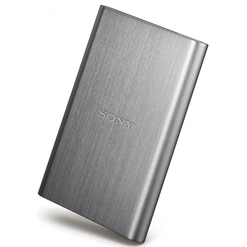 "Sony 2.5"" externí HDD 2TB, USB 3.0, hliníkový, stříbrný"