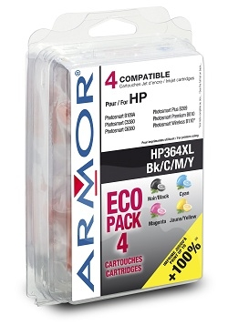 ARMOR cartridge pro HP B8550,C5380,C6380 1BK+1C+1M+1Y/HC,364XL (OLD B10220R1)