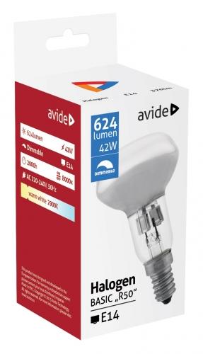 Halogenová žárovka R50 Avide, E14 42W 624 lm 2000 h