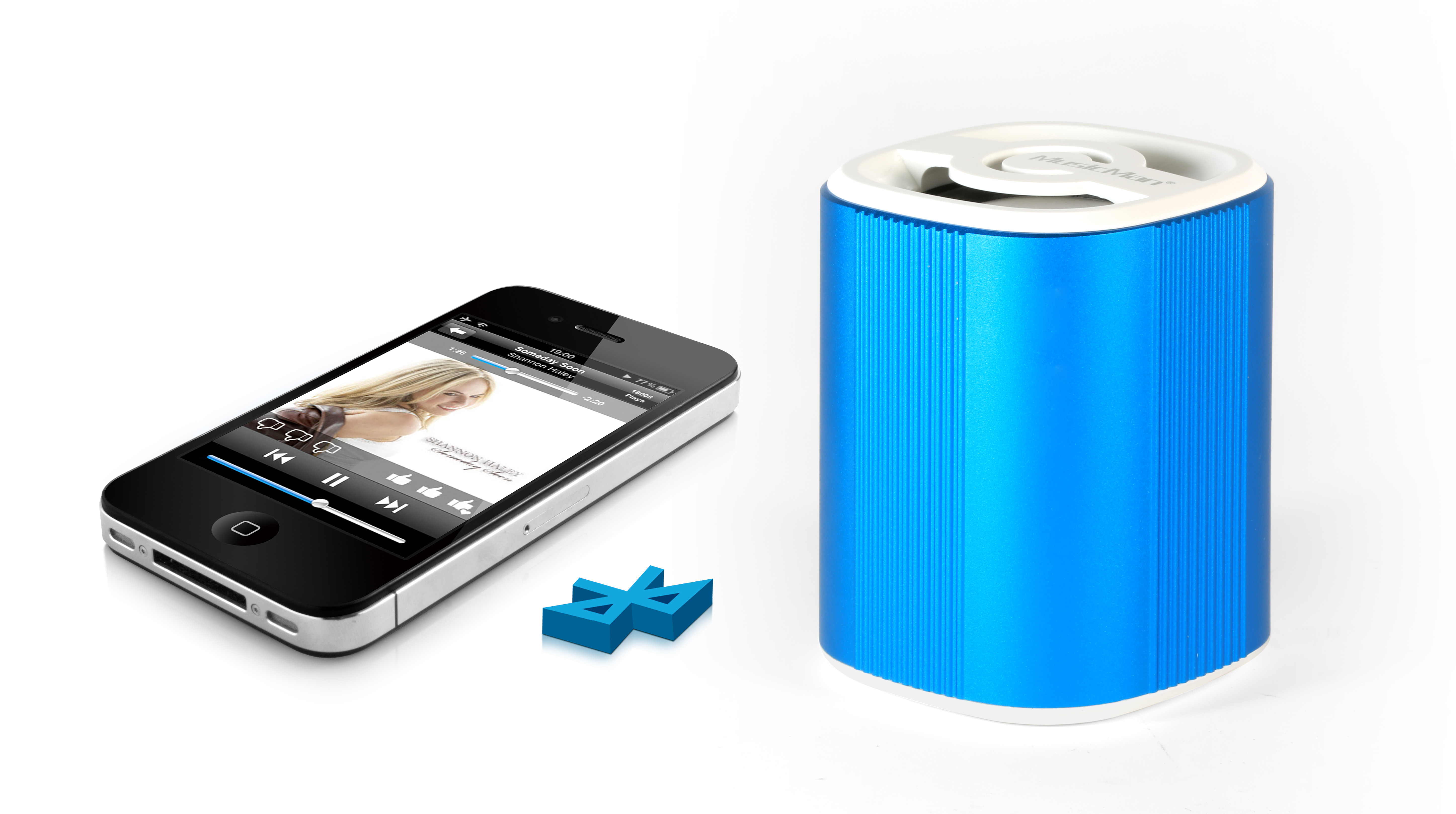 Přenosný Bluetooth reproduktor Grenade Technaxx Mini MusicMan, baterie 600 mAh, modrý (BT-X4)