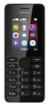 Nokia 108 Dual SIM Black (černá)