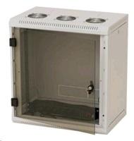 Nástěnný rack RUA 9U/500mm odn.boč+skl.dv.