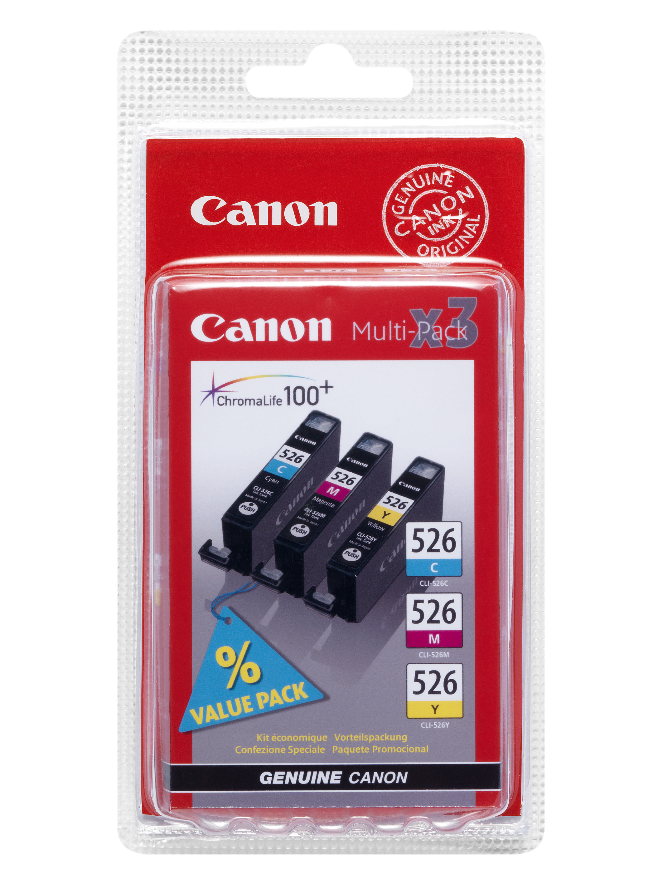 Canon BJ CARTRIDGE CLI-526 C/M/Y Pack
