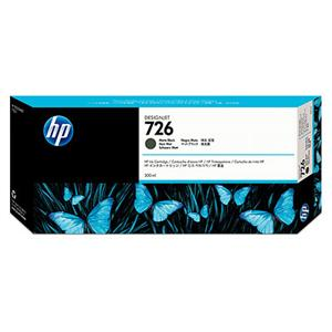 HP CH575A No. 726 Matte Black Ink Cart pro DJ T1200, 300ml