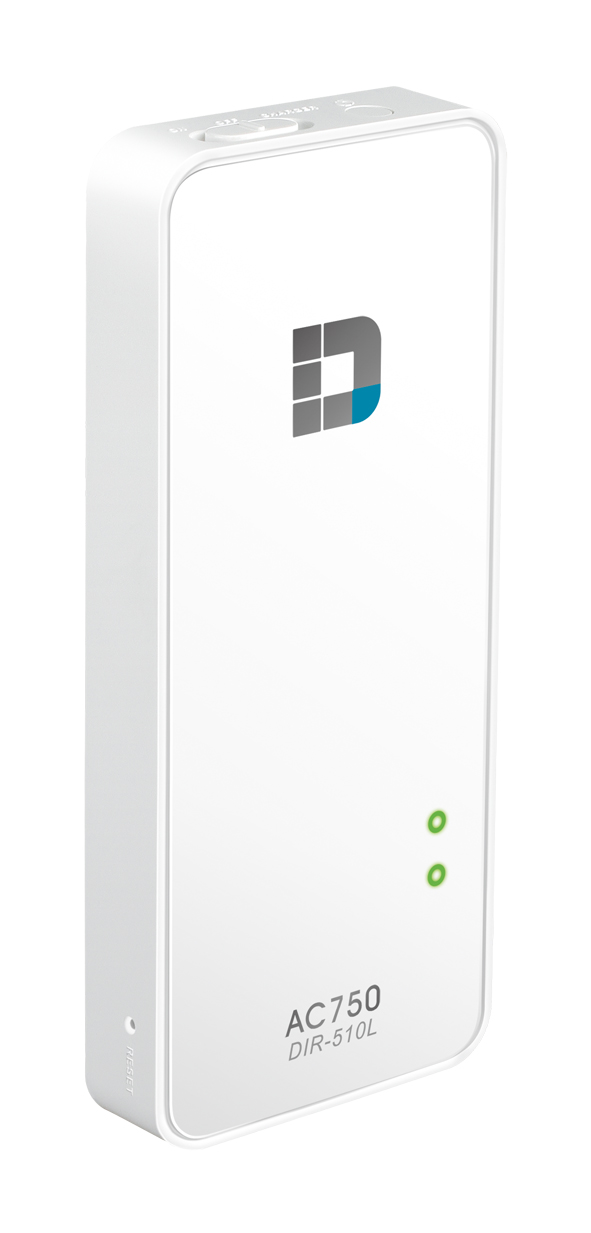 D-Link DIR-510L WiFi AC750 Router and Charger