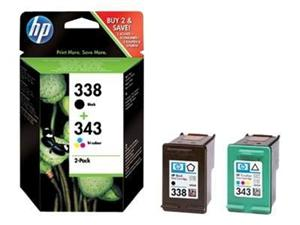 HP SD449EE ink Cart No.338+343, CMYK, (C8765EE+C8766EE)