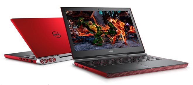 """DELL Inspiron 7567/i7-7700HQ/8GB/1TB SSHD/4GB Nvidia 1050Ti/15,6""""/FHD/Win 10 64bit,červený"""