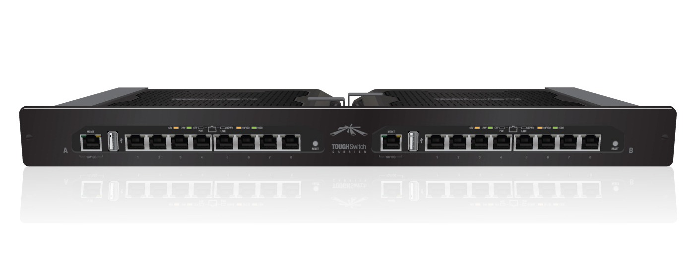 UBNT ToughSwitch CARRIER, 16xGbit POE port, 24/48V