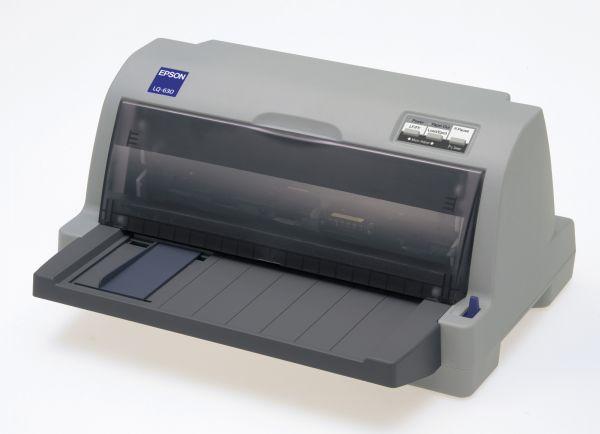 EPSON jehličková LQ-630 - A4/24pins/360zn/1+3kopii/USB/LPT