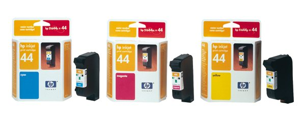 HP 51644ME No. 44 Magenta Ink Cart pro DJ 350,450,455,750,755, 42 ml