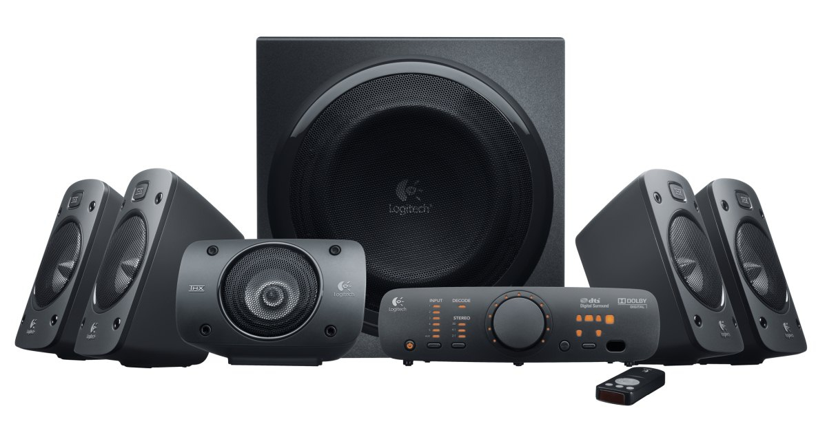 Logitech® Surround Sound Speakers Z906 - sada reproduktorů 5.1, náhrada Z-5500!