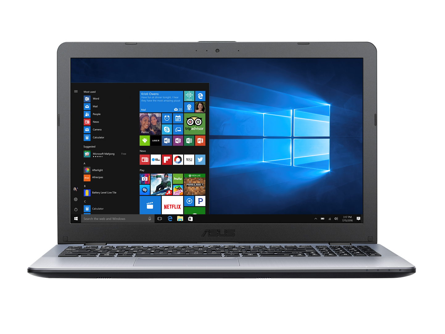 "ASUS X542UQ-DM311T i7-7500U/8GB/256 GB M.2 SSD/GeForce 940MX/15,6"" FHD matný/BT/W10 Home/Grey/Silver"