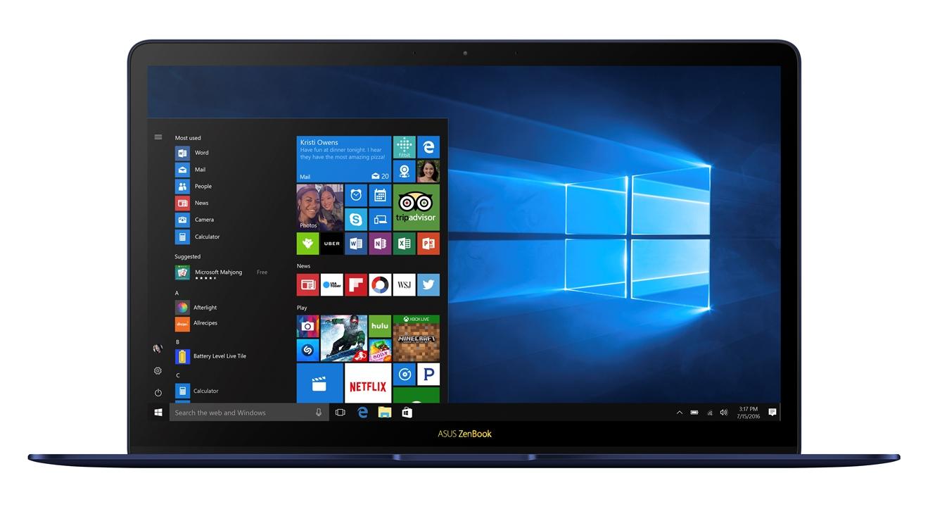 """ASUS ZenBook UX490UA - 14""""/i7-7500U/512SSD/16G/W10Pro modrý"""