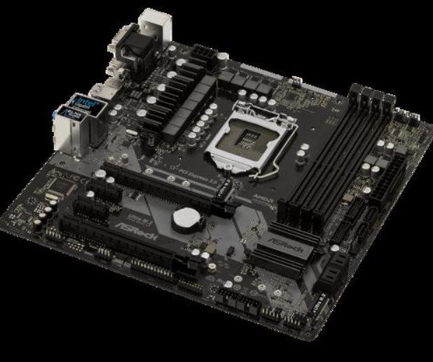 ASRock Z370M PRO4, LGA1151 ,4DDR4 ,2PCI-Ex16 ,6SATA3 ,9USB3.1
