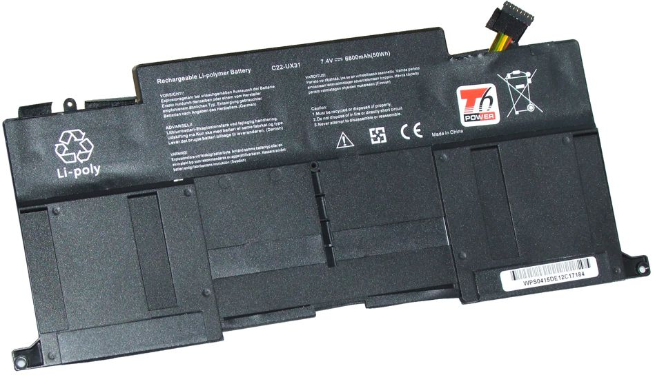 Baterie T6 power Asus Zenbook UX31A, UX31E, Li-pol, 2cell, 6800mAh