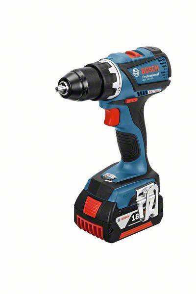 Aku vrtací šroubovák 2x5,0Ah + L-Boxx Bosch GSR 18 V-EC Professional, 06019E8104
