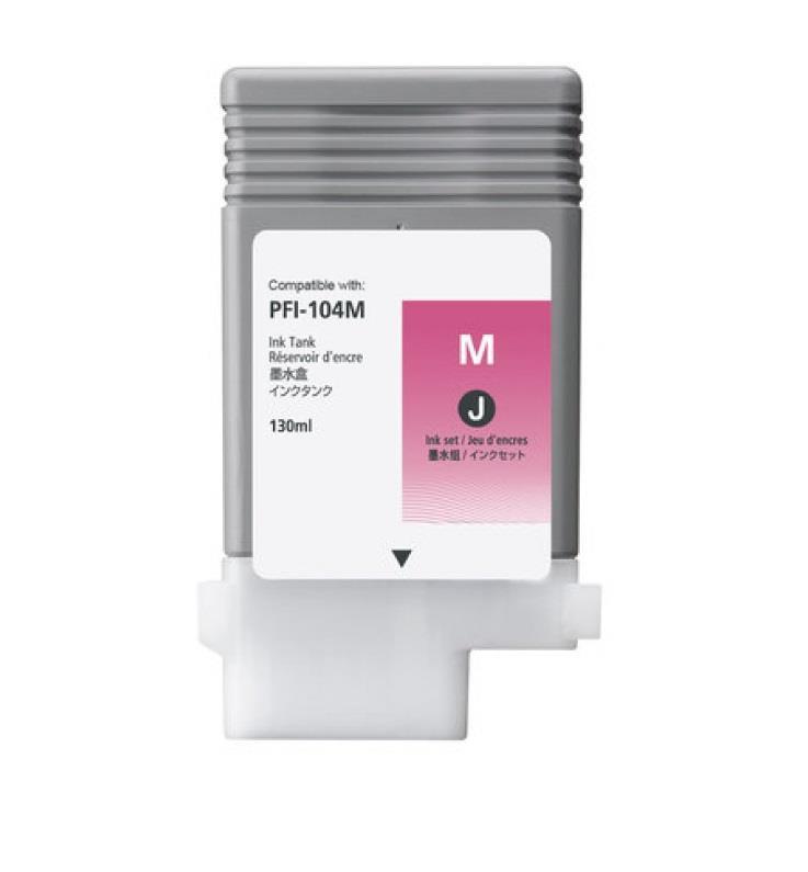 Inkoustová náplň Canon PFI104 purpurová | 130ml | iPF650/655/750/755