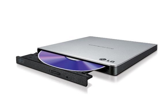 LG externí Slim mechanika USB 2.0, 8x DVD+/-RW, 5x DVD-RAM, stříbrná