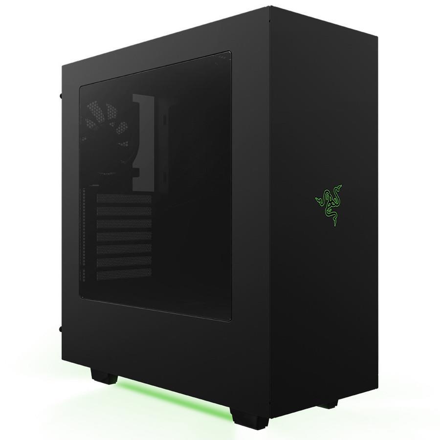 NZXT PC skříň S340 RAZER speciální edice, černo-zelená s logem