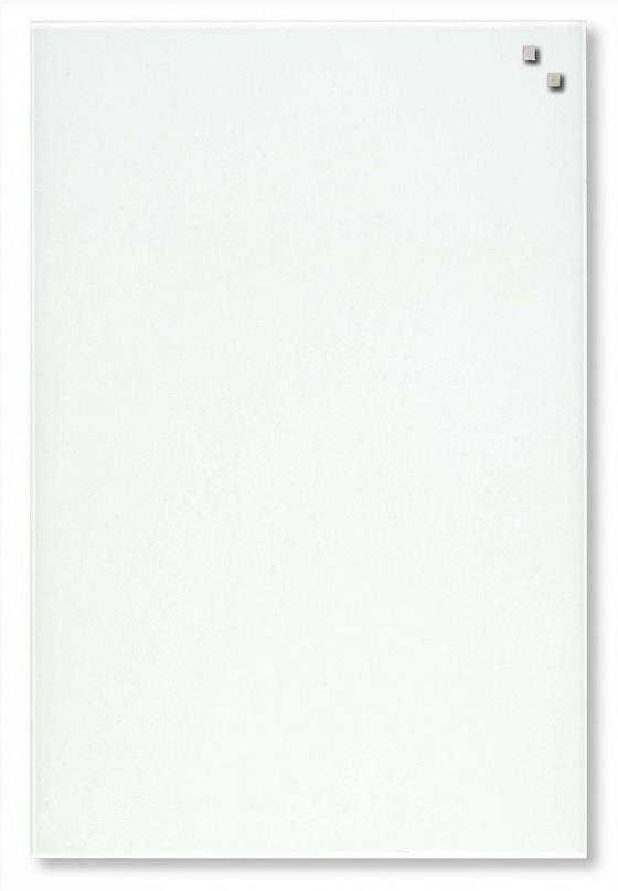 NAGA Magnetic glass board 40x60 cm white