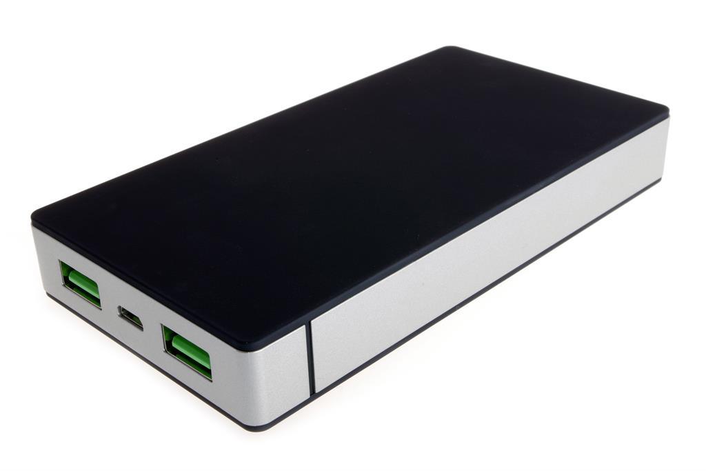 PowerNeed Sunen Přenosná nabíječka 10000mAh, 2x USB; tablet, smartphone; černá