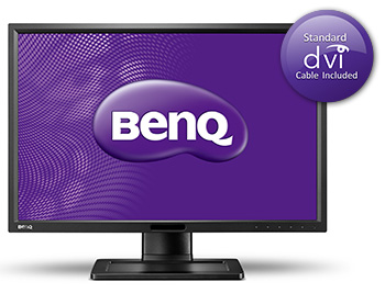 "BenQ LCD XL2411Z Black 24""W/TN LED/FHD/12M:1/1ms/3D/DVI-DL/HDMI/pivot /Flicker-free/Low Blue Light"