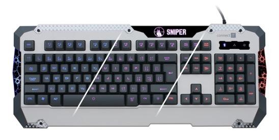 CONNECT IT SNIPER CI-217 klávesnice herní GK5500 USB, podsvícená, bílá