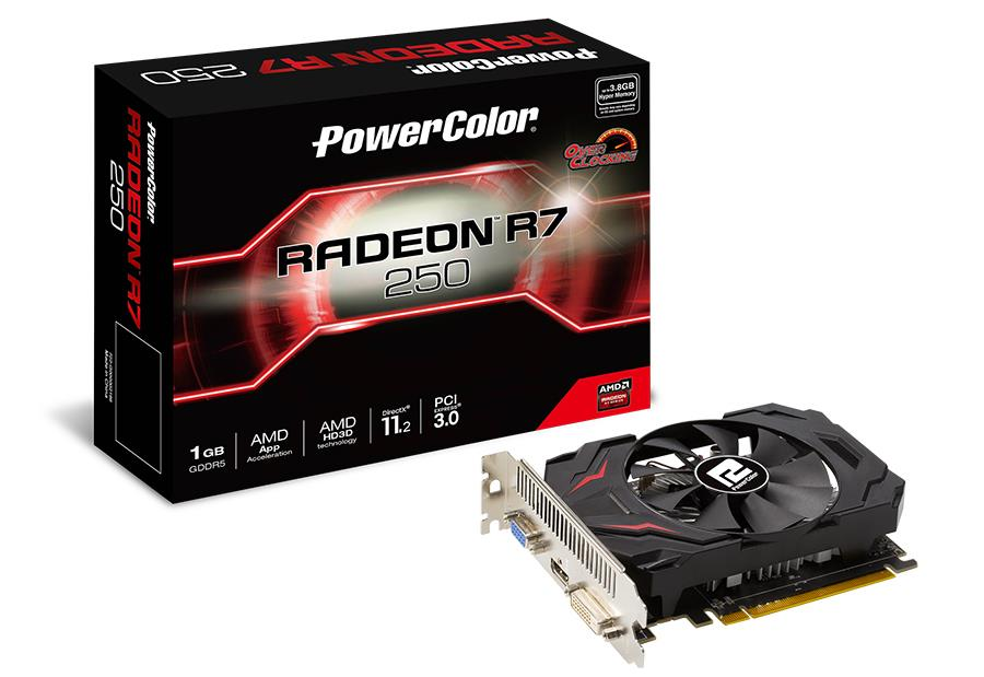 PowerColor Radeon R7 250 1GB GDDR5, 128bit, PCIE 3.0