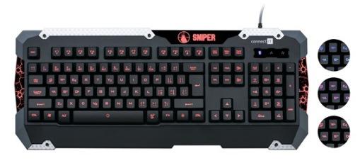 CONNECT IT SNIPER klávesnice pro hráče GK5500, černá