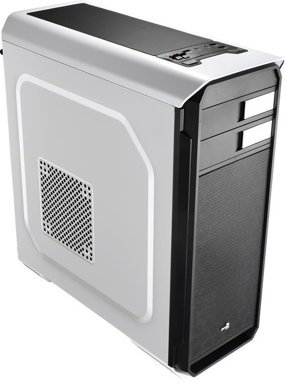 PC skříň Aerocool ATX AERO-500 WHITE, USB 3.0, bez zdroje