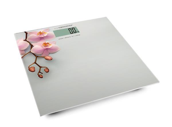 Esperanza EBS010 ORCHID osobní digitální váha, vzor orchidej