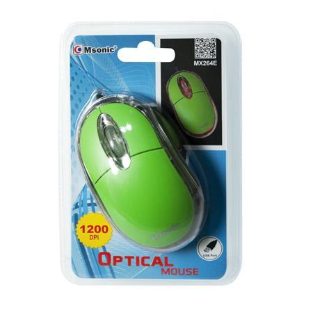 MSONIC Optická myš USB 1200dpi MX264E zelená