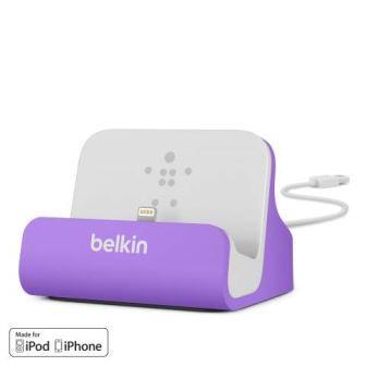BELKIN Stolní dokovací stanice pro iPhone 5,5c,5s,6,6s, fialová