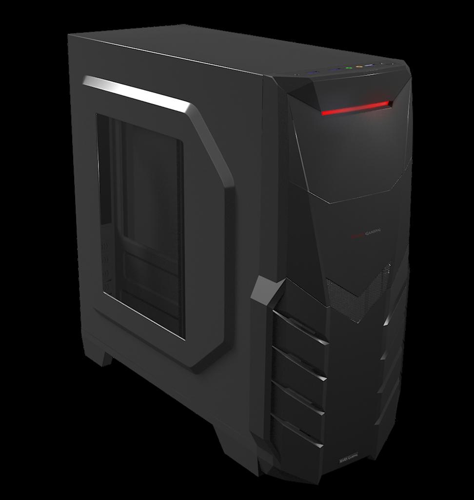 PC skříň Tacens ATX MARS GAMING MC316, USB 3.0, bez zdroje, černá