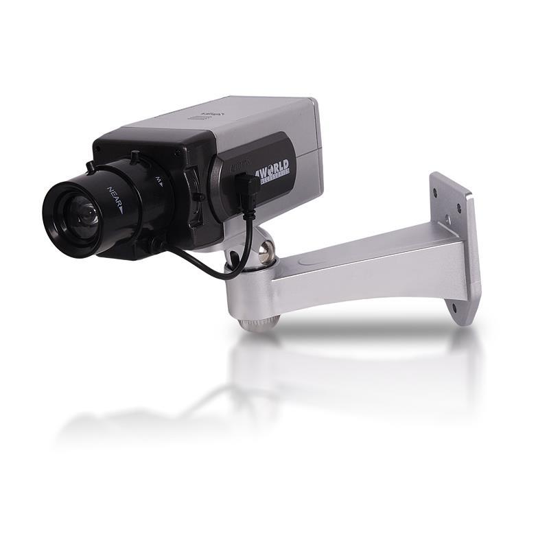 4World Atrapa bezpečnostní kamery s blikající LED diodou