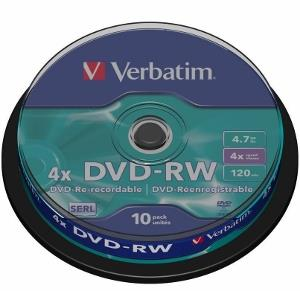 Verbatim DVD-RW [ cakebox 10 | 4.7GB | 4x ]