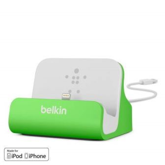 BELKIN Stolní dokovací stanice pro iPhone 5,5c,5s,6,6s, zelená
