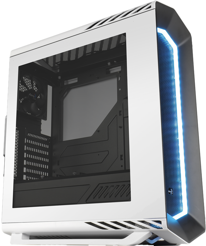 PC skříň Aerocool ATX P7 C1 WHITE STANDARD, USB 3.0, bez zdroje