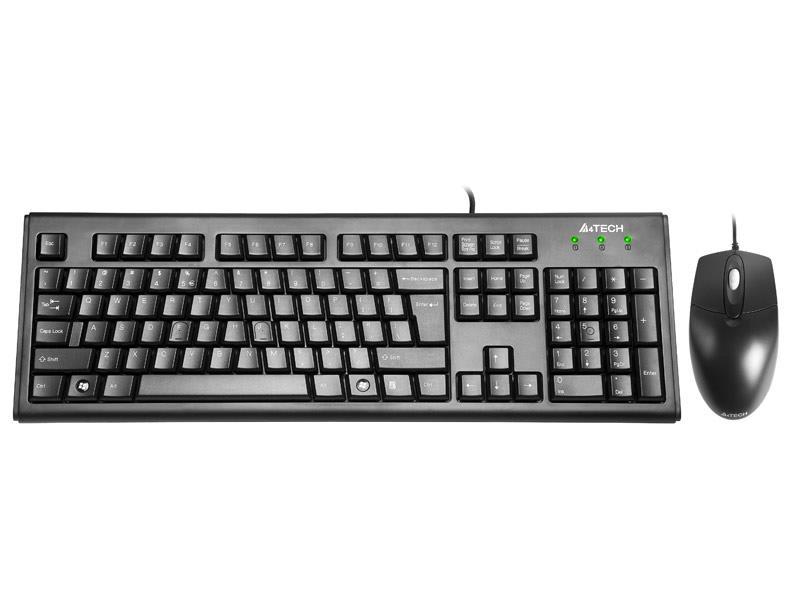 Drátová sada klávesnice+ myš KRS-8372 USB, US černá