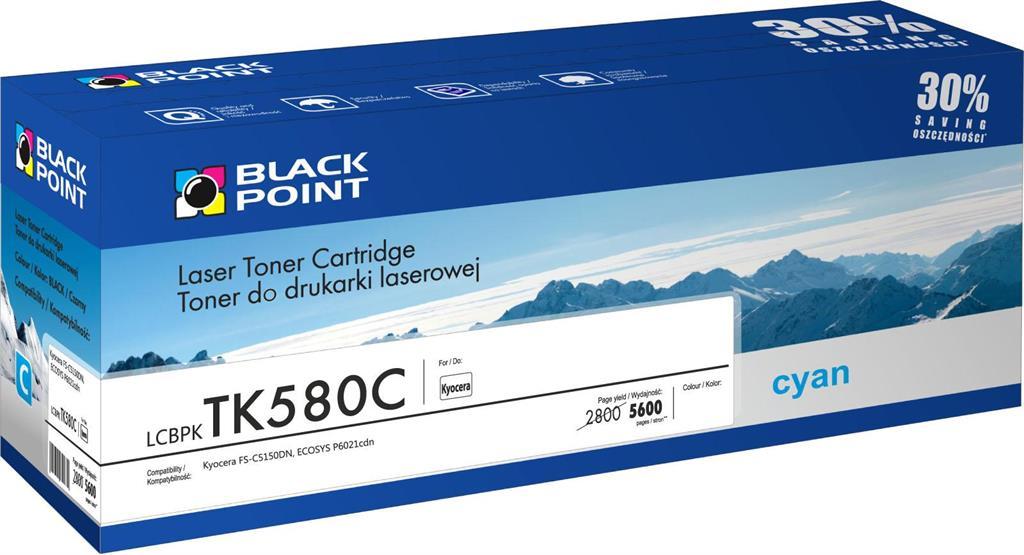 Toner Black Point LCBPKTK580C | cyan | 5600 pp | Kyocera TK-580C