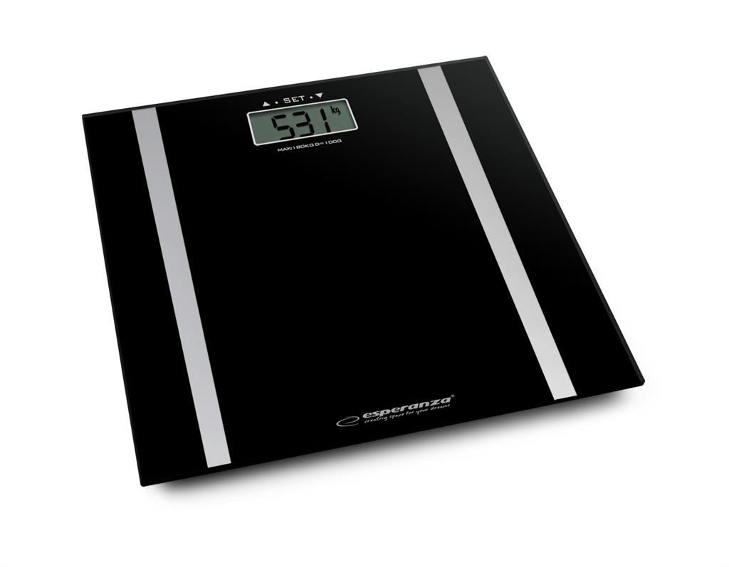 Esperanza EBS013K FIT osobní digitální váha 3v1, černá