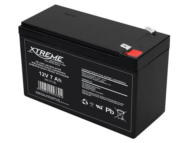 XTREME Nabíjecí gelová baterie 12V 7Ah