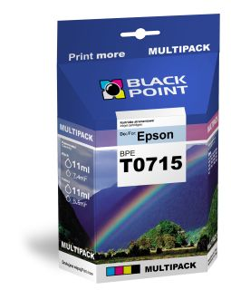 Ink Black Point BPET0715 | CMYK | 4*11 ml | Epson T0715