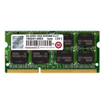 Transcend 4GB 1600MHz DDR3 CL11 SODIMM 1Rx8