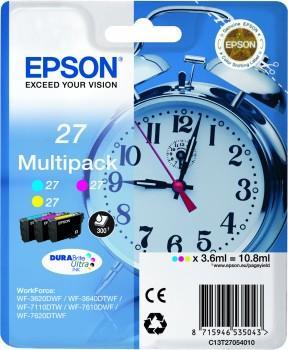 Alarm clock Multipack Epson T2705 C/M/Y 3-colour 27 DURABrite | 10.8 ml