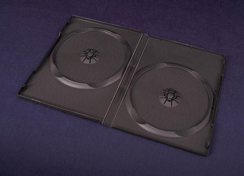 Esperanza Plastové krabičky na 2 DVD 14mm   100 ks, černé