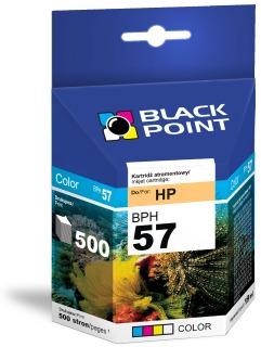 Ink Black Point BPH57 | Color | 17 ml | 500 p. | HP C6657