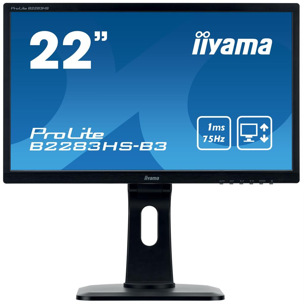 Monitor Iiyama B2283HS-B3 22inch, TN, Full HD, VGA, DVI-D, speakers